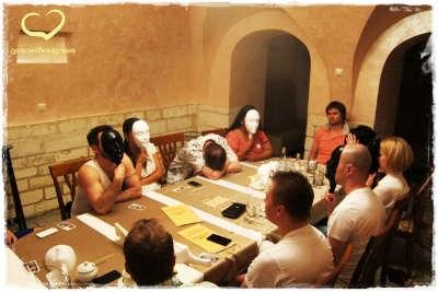 Вечеринка знакомств в кафе Листья. 23 пары возраста 29-37 лет,  играем в мафию